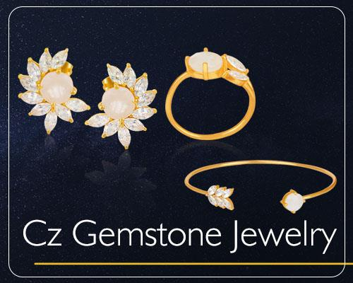 Cz Gemstone Jewelry Collections in Jaipur