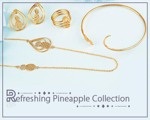 Wholesale Refreshing Pineapple Jewelry Collection