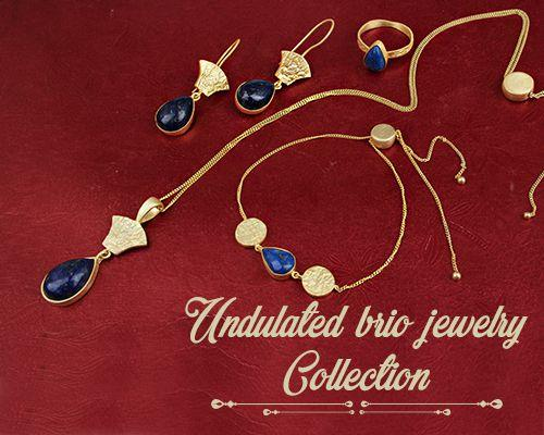 Wholesale Undulated Brio Gemstone Jewelry Collection