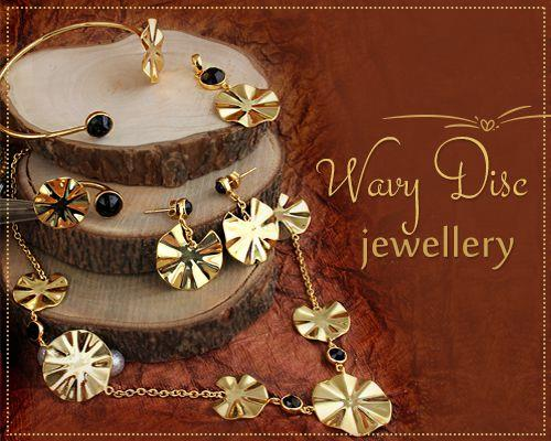Online Wholesale Wavy Disc Jewelry Collection