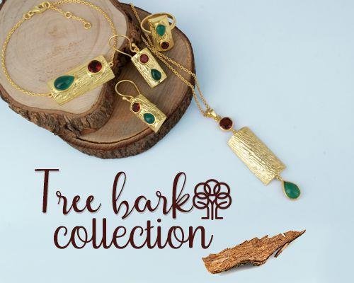 Wholesale Textured Silver Jewelry Tree Bark Collection Store, Shop in Jaipur