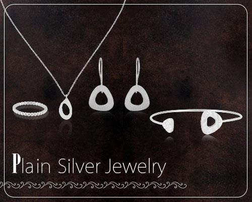 Plain Silver Jewelry Collections in Jaipur