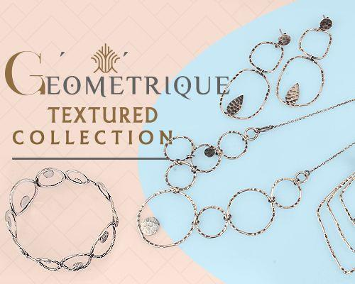 Geometrique textured jewelry manufacturer