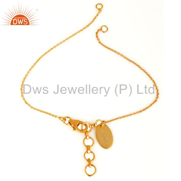 18K Yellow Gold Plated Sterling Silver Link Chain Jewelry