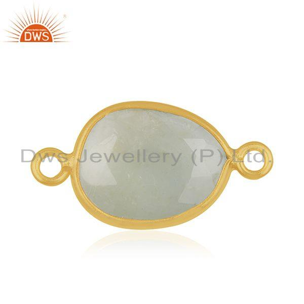 Gold Plated 925 Silver Gemstone Jewerly Connectors Findings Manufacturers