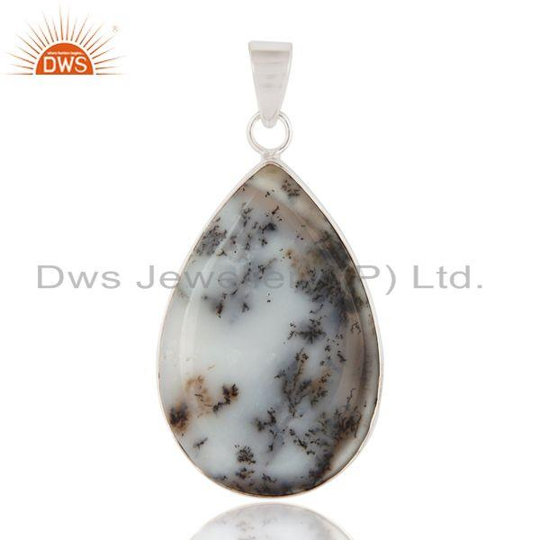 Natural Dendritic Opal Gemstone 925 Sterling Silver Artisan Crafted Pendant