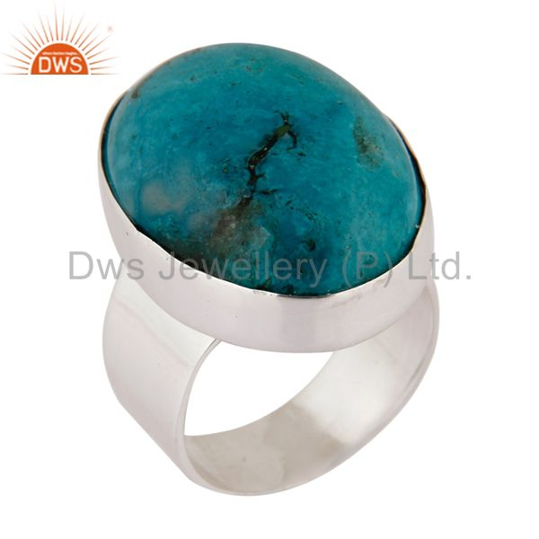 Natural Matrix Turquoise Gemstone Ring Made In Solid 925 Sterling Silver Jewelry