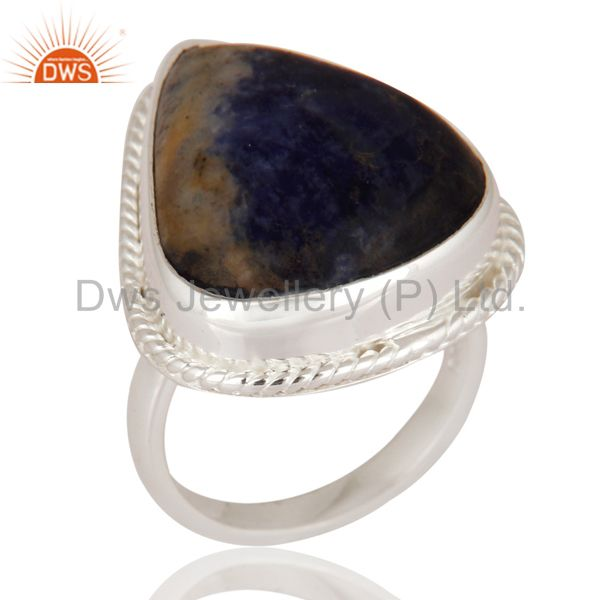 Premium Quality Handmade 925 Sterling Silver Ring With Natural Sodalite Gemstone