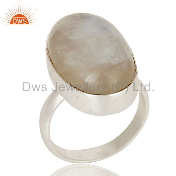 Rainbow Moon Stone Stone Ring