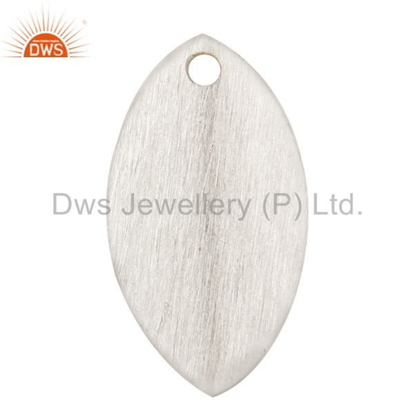 925 Silver Plated Brass Matte Finish Marquise Shape Finding Charm Jewelry