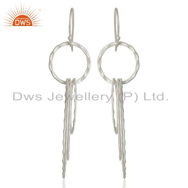 New Arrival Silver Plated Brass Fshion Earrings Jewelry Wholesale