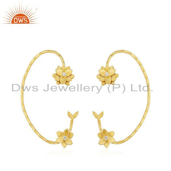 New Arrival 18k Gold Plated Brass Designer Fashion Earrings Jewelry