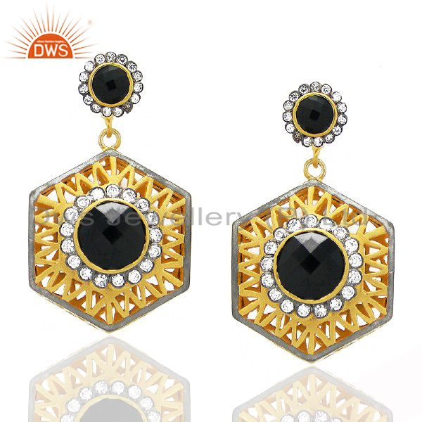 Black Onyx Gemstone earring
