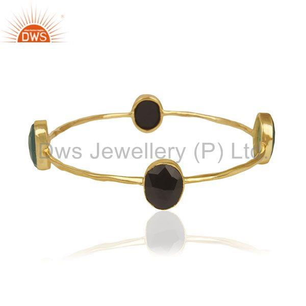 14k Gold Plated Handmade Brass Fashion Custom Bangle Jewelry Manufacturer India