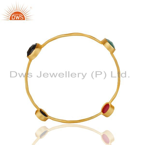 Handmade Gold Plated Brass Fashion Womens Bangle Manufacturer