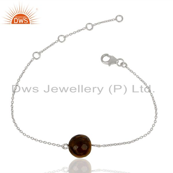 Wholesale Sterling Fine Silver Natural Tiger Eye Gemstone Jewelry