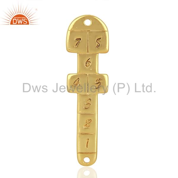 925 Sterling Silver Gold Plated Handmade Connector Jewelry Supplier
