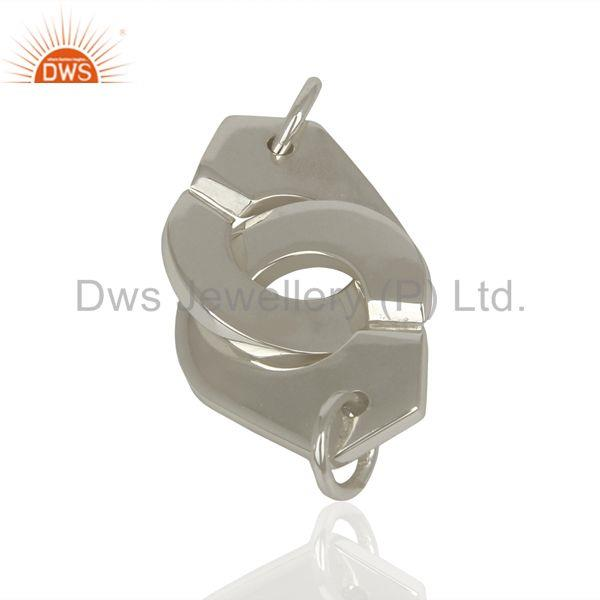 Handmade Sterling Fine Plain Silver Connector Jewelry Manufacturer