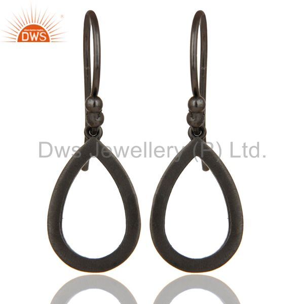 Black Oxidized with 925 Sterling Silver Drop Designer Earrings