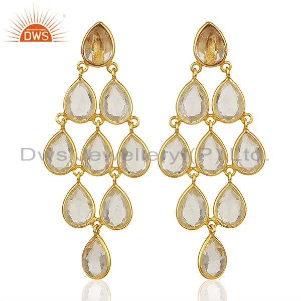 Crystal 925 Silver Earrings Customized Gemstone Jewelry Manufacturer