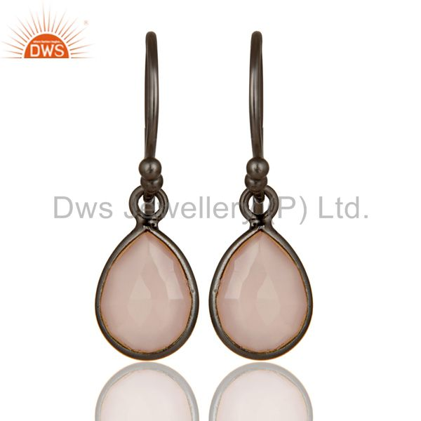 Rose Chalcedony earring