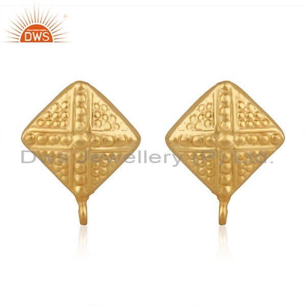 Indian 14k Gold Plated Brass Designer Fashion Connector Jewelry Finding