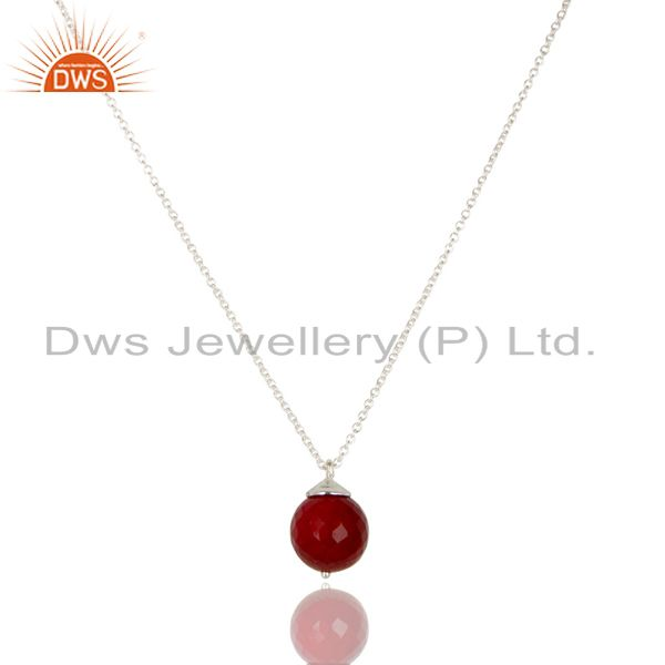 Handmade Solid 925 Sterling Silver Natural Ruby Designer Chain Pendant Jewelry