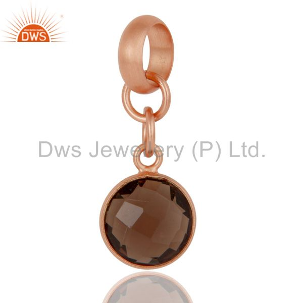 18k Rose Gold Plated Sterling Silver Fine Setting Smokey Jewelry Finding