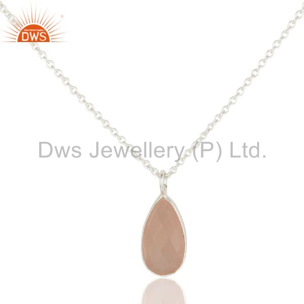 Rose Chalcedony Pendant And Necklace Manufacturer