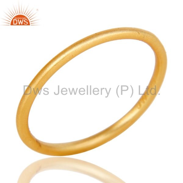 Handmade 18k Yellow Gold Plated Sterling Silver Little Round Midi Ring