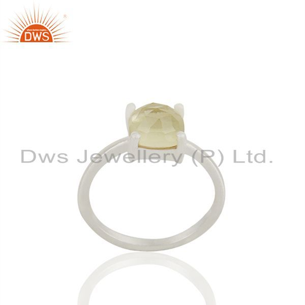 Lemon Topaz Gemstone 925 Silver Handmade Rings Jewelry Wholesale