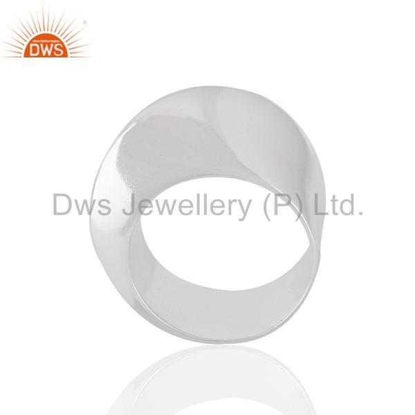 Solid 925 Sterling Silver Unisex Customized Cocktail Ring Manufacturer