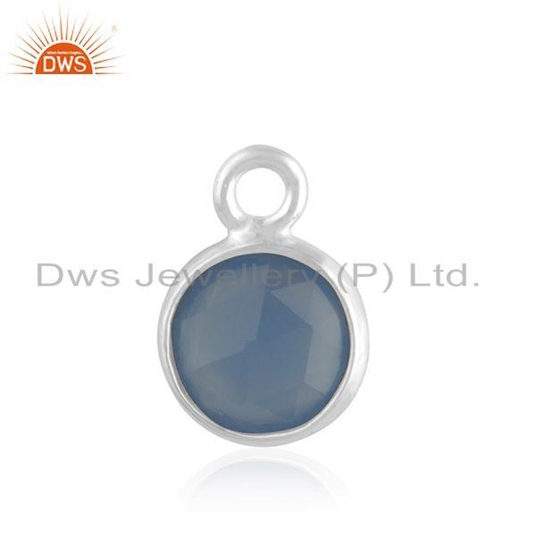 Blue Chalcedony Gemstone 925 Sterling Silver Charm Jewelry Findings Manufacturer