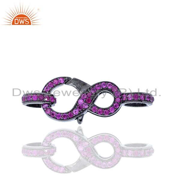 925 Silver Ruby Gemstone Clasp & Spring Lock Lobster Finding For Jewelry Making