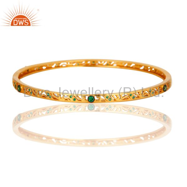 Genuine Zircon Green Bangle