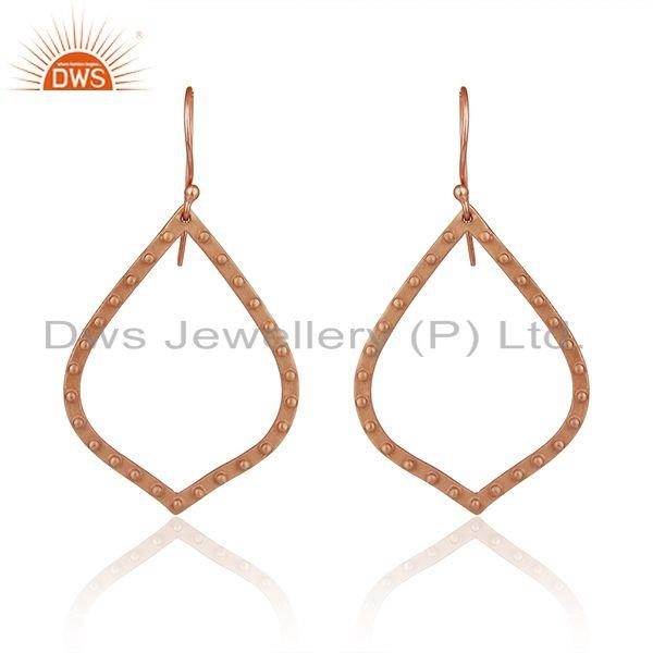 Rose Gold Plated Brass Fashion Handmade Earrings Manufacturers