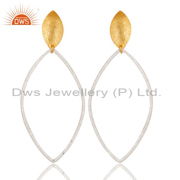 Traditional Handmade Brass Drops Earrings Made In 14K Gold & Silver Plated