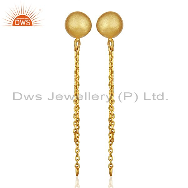 Handmade Gold Plated Brass Fashion Jewelry Findings Manufacturers
