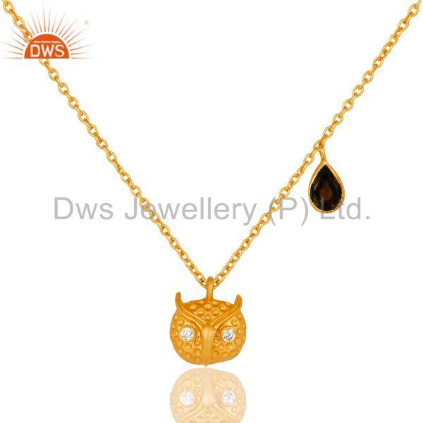 Customized Owl Design Gold Plated Brass Fashion Chain Pendant Supplier