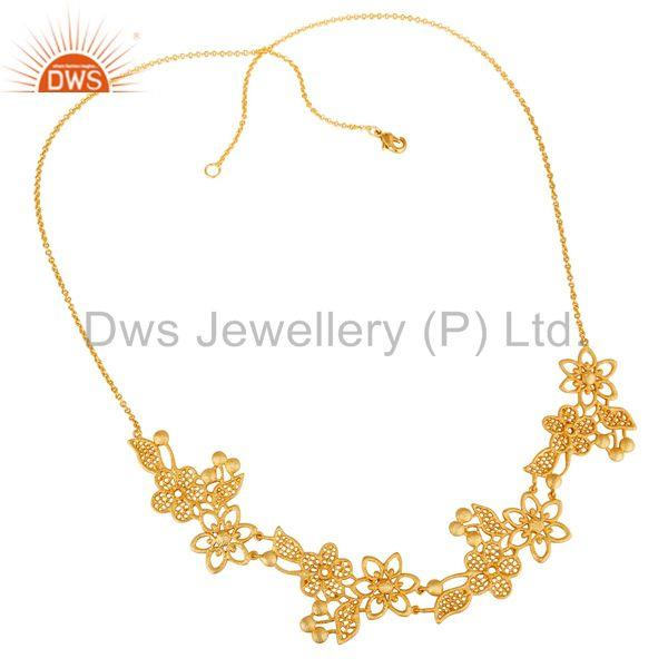 Traditional Handmade Modern Design 18K Gold Plated Brass Chain Necklace
