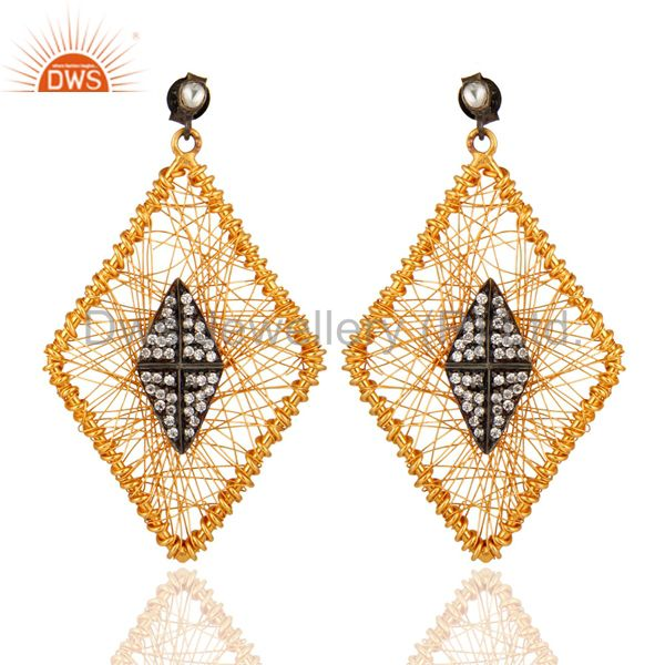 Gold Plated Statement Silver Jewelry