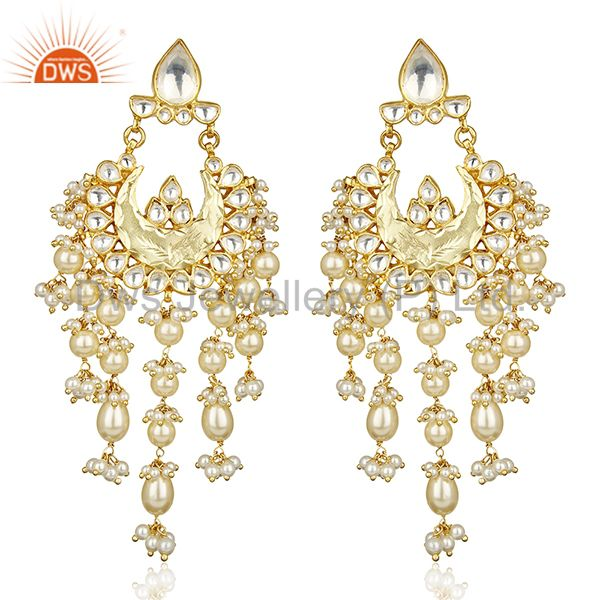 Gorgeous Indian Kundan Polki Jaipur Wholesale Traditional Silver Jewelry