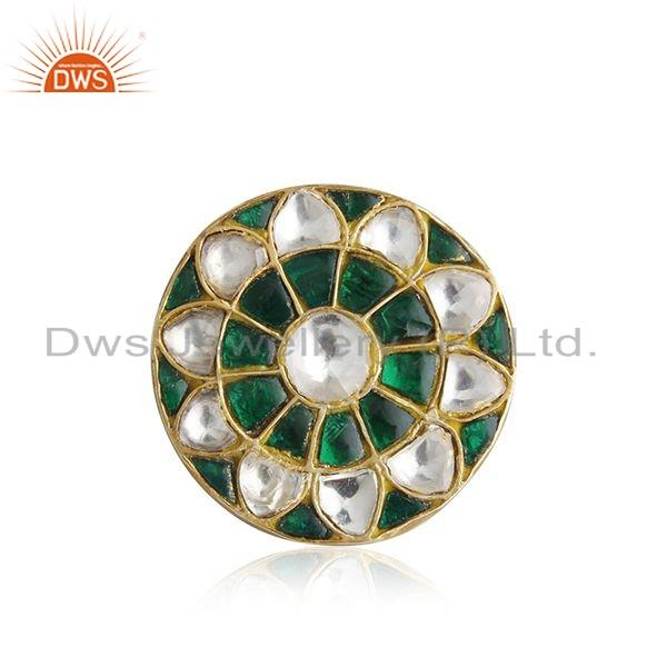 Tradirional Gold Plated Handmade 925 Silver Lakh Ring Jewelry