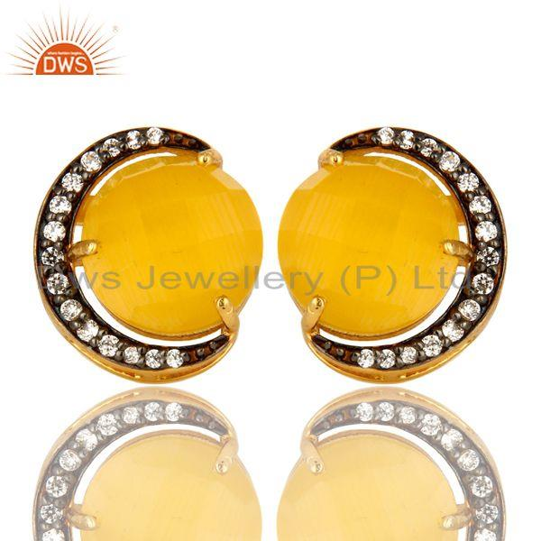 White Zircon earring