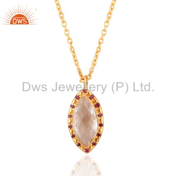 Wedding Crystal Quartz Pendant And Necklace