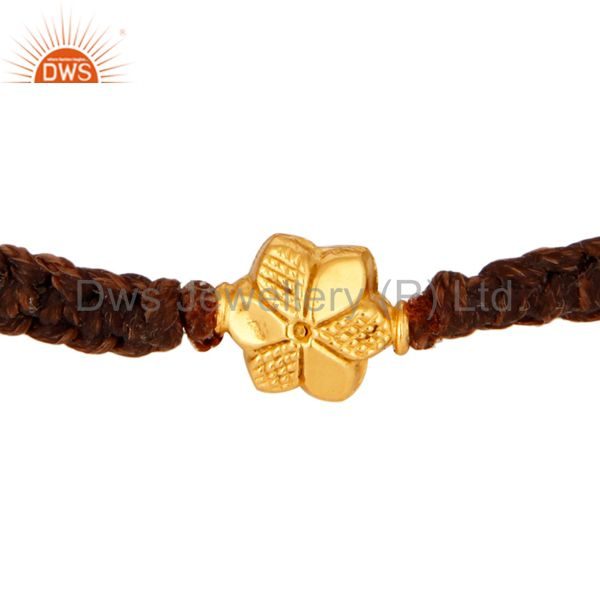 Handcrafted Solid 18Kt. Yellow Gold Womens Fashion Bracelets Macrame Jewelry