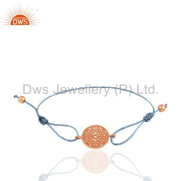 Rose Gold Plated Plain Silver Charm Bracelet Manufacturer of Charms