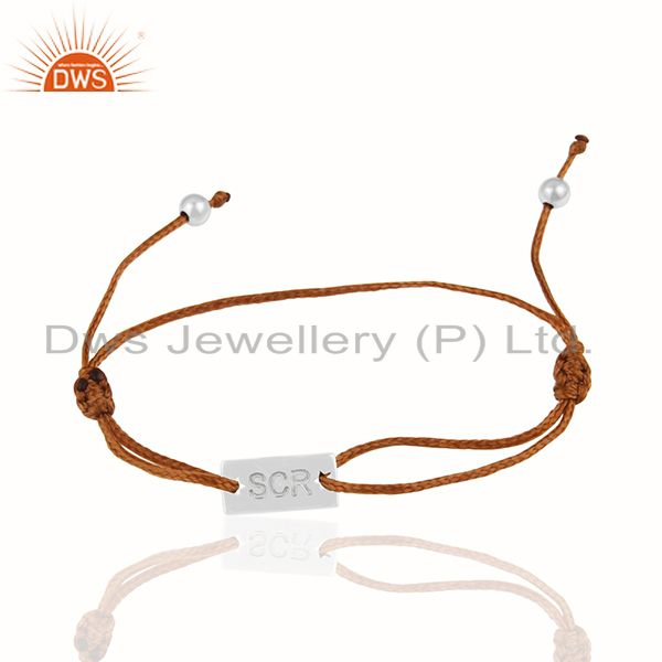 925 Sterling Silver Engraved Customized Bracelet Manufacturers India