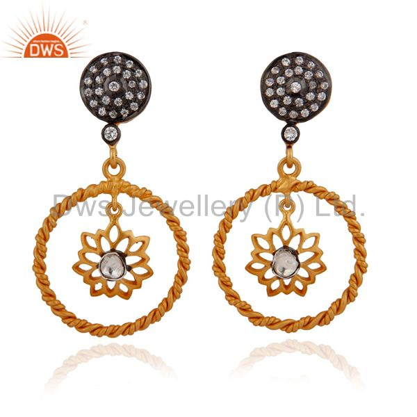Cz Gemstone Jewelry earring