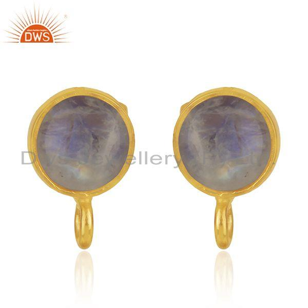 Gold Plated Brass Jewelry Findings Manufacturer of Moonstone Earrings